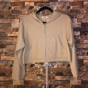 Cropped corset hoodie